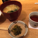ごはん家 椒房庵 - 若布と筍の味噌汁600円
