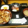おたる佐藤食堂 - 料理写真:特製天丼と刺身セット 2016.4月