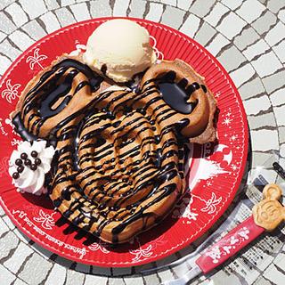 グレートアメリカン・ワッフルカンパニー - 料理写真:チョコレートワッフル+バニラアイスクリーム