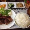 たなご屋 - 料理写真:サイコロステーキ定食 800円