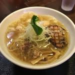 麺屋 ふぅふぅ亭 - 「鶏海老ワンタン麺 塩」930円