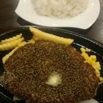 肉マル食堂 - ハンバーグセット(250g)