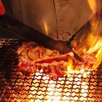 氷温熟成!地鶏もも肉の炭火釜戸焼き