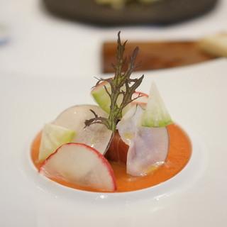 クッチーナ イタリアーナ ガッルーラ - 料理写真:「炙った寒ブリ」のカルパッチョ