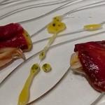 l'adour - 2016年4月 ヴェネト産馬肉のハムと蛤