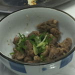 もつ焼き丸昌 - 料理写真:2016年4月。しねぇ肉150円。