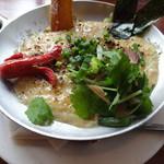 ビオ・オジヤン・カフェ - オジヤLサイズと、おこげチーズと、香味野菜です