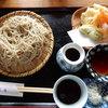 琴正庵 - 料理写真:もり蕎麦600円、天ぷら3点盛り100円