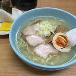 一生懸麺 とっかりⅡ - 塩らーめん(700円)+おにぎり(130円)