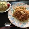 リバー - 料理写真:昔ながらのナポリタン600円、半チャーハンセット +300円(第二回投稿分①)