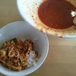 西安刀削麺 - 麻辛刀削麺・大辛(750円) 麺を食べ終わったら...