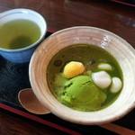 大文字屋 - 嵯峨路(煎茶付)730円