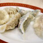 龍泉 - 水餃子はカレー風味が強いかな。 (・o・)