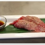 2918 - 十勝ハーブ牛の炙り寿司