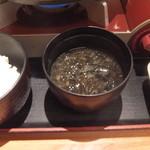 旬鮮酒場天狗 - 牛カルビの玉子とじ煮ランチ