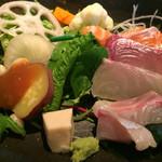 蕎麦 いち - ★★★☆ 野菜と刺身
