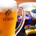 SOBA-HOUSE 大自然 - ヱビス生ビール 450円  ランチタイムは390円