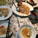 華美 - 焼き餃子と棒棒鶏