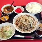 寒梅亭 - 料理写真:ランチ(豚肉ともやし)550円