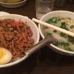 メーヤウ - バジル丼(小)と そば小