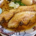 50016470 - 手もみ麺特製中華そば(醤油) 1050円 + 大盛 100円