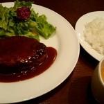 ムサコダイニング - 『煮込みハンバーグ』¥1000-