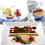 レストラン クララ - 【お薦めのランチコース】オードブルの取り合わせと、メインディッシュはお魚もお肉もお召し上がりいただけるお薦めコースです。