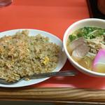 上海軒 - 料理写真:半ラーメンセット中盛 800円