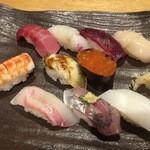 寿司 しながわ 葵 - テーブルおまかせ握りの10貫