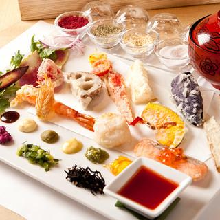 【昼限定】京都で話題の京風手織り寿司にお野菜天ぷらを包んで!