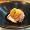 鮨 あら田 - 料理写真:山芋すり流しに甘海老と海胆