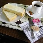 珈琲豆や - トーストと試飲のコロンビア