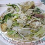 お食事処 波布 - 豆腐チャンプルー650円。