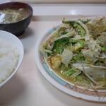 お食事処 波布 - ライス、沖縄そばが付く。