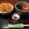 越後そば - 料理写真:かき揚げ丼セット