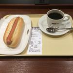 ドトールコーヒーショップ - Cセット、ジャーマンドック¥390