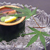 田家 - 料理写真:月コースより…先付新じゅんさいと枝豆 蟹 レモン酢)