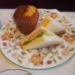 紅茶文庫 ブンコ ティー ルーム - サンドイッチとマフィン