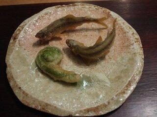 虎白 - 稚鮎の天ぷら
