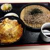 ほかり食堂 - 料理写真:ざるそば・カツどんセット850円