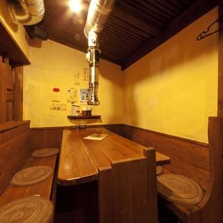 木造りのアットホーム空間