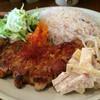 Kafetodabiyorirabo - 料理写真:がっつり!トンテキプレート スープドリンク付(1,000円)