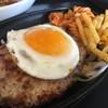 ファイヤーバーグ - 料理写真:エッグハンバーグセット。