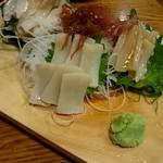 50352356 - 『貝の刺身3点(北寄・ミル・平)盛り』¥2500-