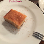 トーク バック - デザートのフィナンシェ