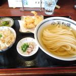 手作りうどん 天粉盛 - 冷やかけ天ぷらセット