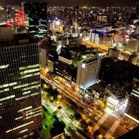 第3ビル33階から大阪湾まで夜景を一望