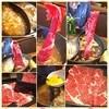 和食さと - 料理写真:しゃぶしゃぶ食べ放題120分2090円  肉しかおかわりせんかった\̏(º̻∇º̻)/̋