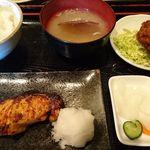 50382590 - 銀ダラ味噌焼き定食+ネギトロメンチ