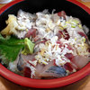 大漁桜どんぶり亭 - 料理写真:おすすめ丼真あじ+真いわし丼594円